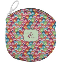 Retro Fishscales Round Coin Purse (Personalized)