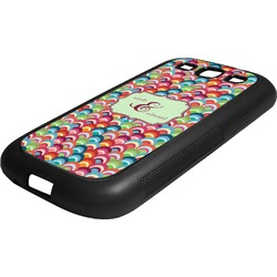 Retro Fishscales Rubber Samsung Galaxy 3 Phone Case (Personalized)