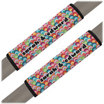Retro Fishscales Seat Belt Covers (Set of 2) (Personalized)