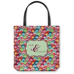 """Retro Fishscales Canvas Tote Bag - Large - 18""""x18"""" (Personalized)"""