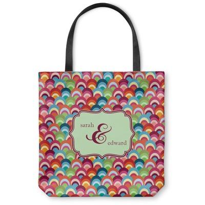Retro Fishscales Canvas Tote Bag (Personalized)