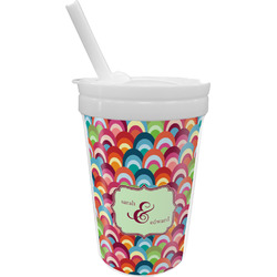 Retro Fishscales Sippy Cup with Straw (Personalized)