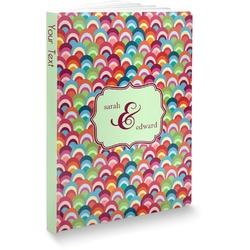 Retro Fishscales Softbound Notebook (Personalized)