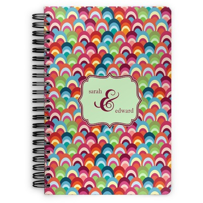 Retro Fishscales Spiral Notebook (Personalized)