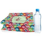 Retro Fishscales Sports & Fitness Towel (Personalized)