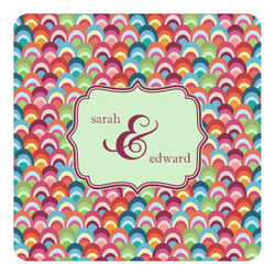 Retro Fishscales Square Decal - Custom Size (Personalized)