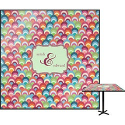 Retro Fishscales Square Table Top (Personalized)