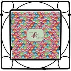 Retro Fishscales Square Trivet (Personalized)