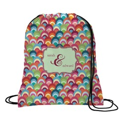 Retro Fishscales Drawstring Backpack (Personalized)
