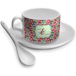 Retro Fishscales Tea Cups (Personalized)