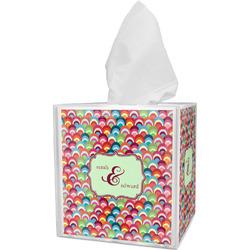 Retro Fishscales Tissue Box Cover (Personalized)