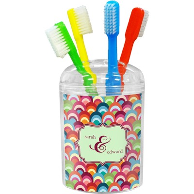 Retro Fishscales Toothbrush Holder (Personalized)