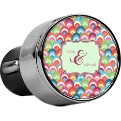 Retro Fishscales USB Car Charger (Personalized)