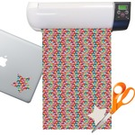 Retro Fishscales Sticker Vinyl Sheet (Permanent)