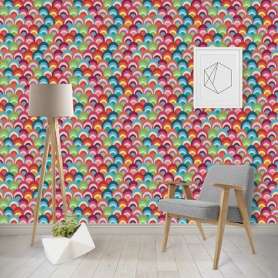Retro Fishscales Wallpaper & Surface Covering
