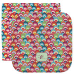 Retro Fishscales Facecloth / Wash Cloth (Personalized)