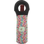 Retro Fishscales Wine Tote Bag (Personalized)