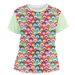 Retro Fishscales Women's Crew T-Shirt (Personalized)