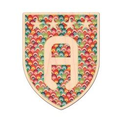 Retro Fishscales Genuine Wood Sticker (Personalized)