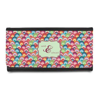 Retro Fishscales Leatherette Ladies Wallet (Personalized)