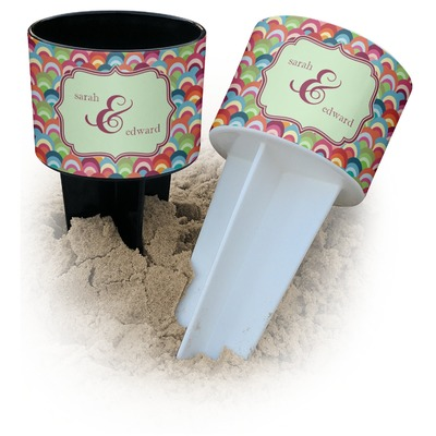 Retro Fishscales Beach Spiker Drink Holder (Personalized)