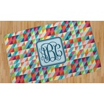 Retro Triangles Area Rug (Personalized)