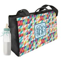 Retro Triangles Diaper Bag (Personalized)