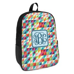 Retro Triangles Kids Backpack (Personalized)