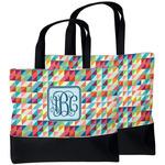 Retro Triangles Beach Tote Bag (Personalized)