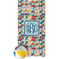 Retro Triangles Beach Towel (Personalized)