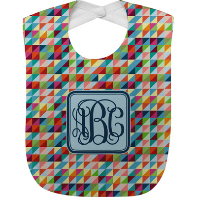 Retro Triangles Baby Bib (Personalized)