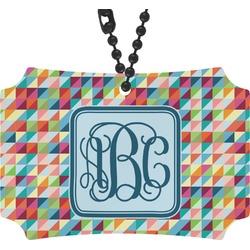 Retro Triangles Rear View Mirror Ornament (Personalized)