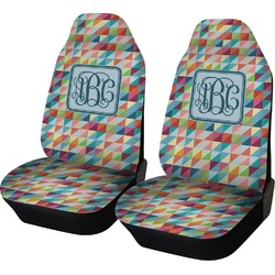 Retro Triangles Car Seat Covers (Set of Two) (Personalized)