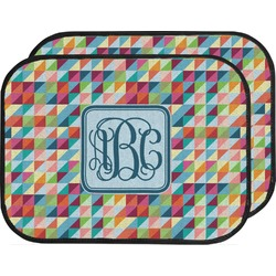 Retro Triangles Car Floor Mats (Back Seat) (Personalized)
