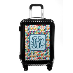 Retro Triangles Carry On Hard Shell Suitcase (Personalized)