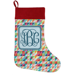 Retro Triangles Holiday / Christmas Stocking (Personalized)