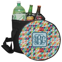 Retro Triangles Collapsible Cooler & Seat (Personalized)