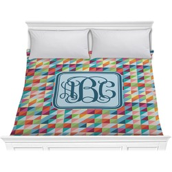 Retro Triangles Comforter - King (Personalized)