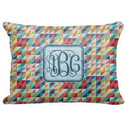 """Retro Triangles Decorative Baby Pillowcase - 16""""x12"""" (Personalized)"""