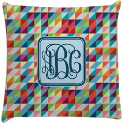 Retro Triangles Decorative Pillow Case (Personalized)