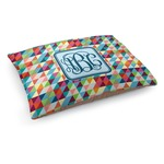 Retro Triangles Dog Bed (Personalized)