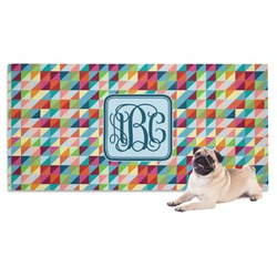 Retro Triangles Pet Towel (Personalized)