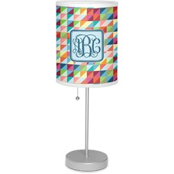 """Retro Triangles 7"""" Drum Lamp with Shade Linen (Personalized)"""