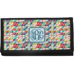 Retro Triangles Canvas Checkbook Cover (Personalized)