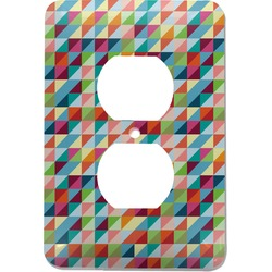Retro Triangles Electric Outlet Plate (Personalized)