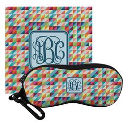 Retro Triangles Eyeglass Case & Cloth (Personalized)