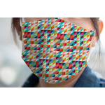 Retro Triangles Face Mask Cover (Personalized)