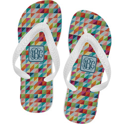 Retro Triangles Flip Flops (Personalized)