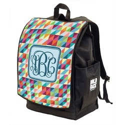 Retro Triangles Backpack w/ Front Flap  (Personalized)
