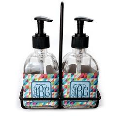 Retro Triangles Soap/Lotion Dispensers (Glass) (Personalized)